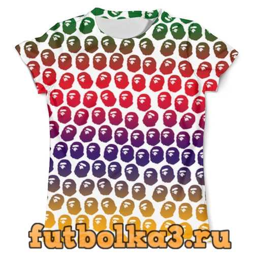 Футболка BAPE Pattern Color мужская