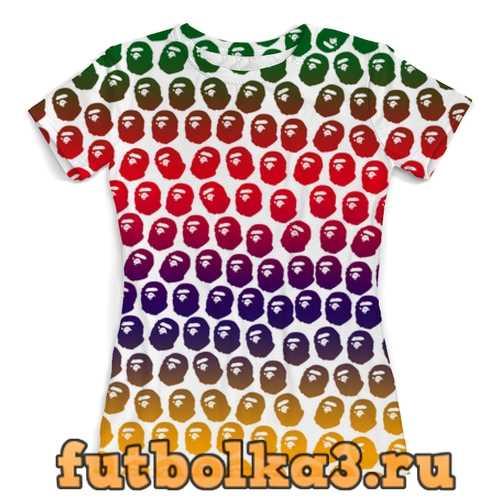 Футболка BAPE Pattern Color женская