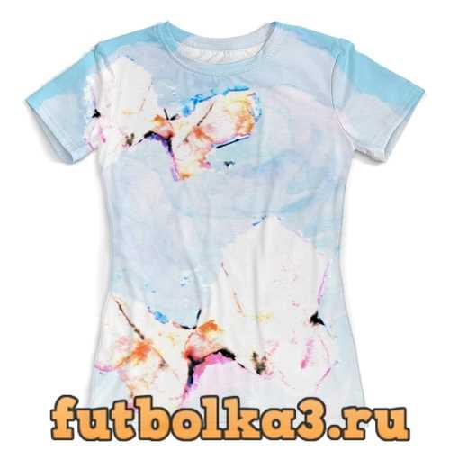Футболка Белые бабочки женская