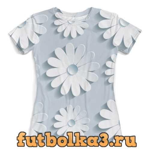 Футболка Бумажные цветы женская