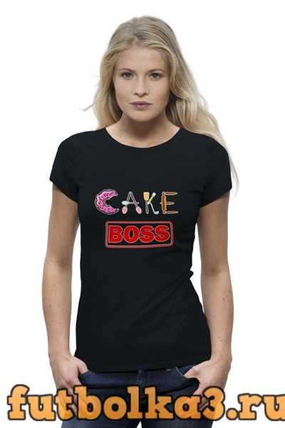 Футболка Cake boss женская