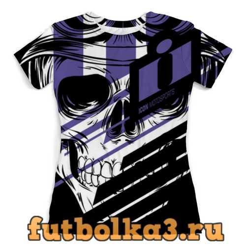 Футболка Череп Icon фиолетовый женская