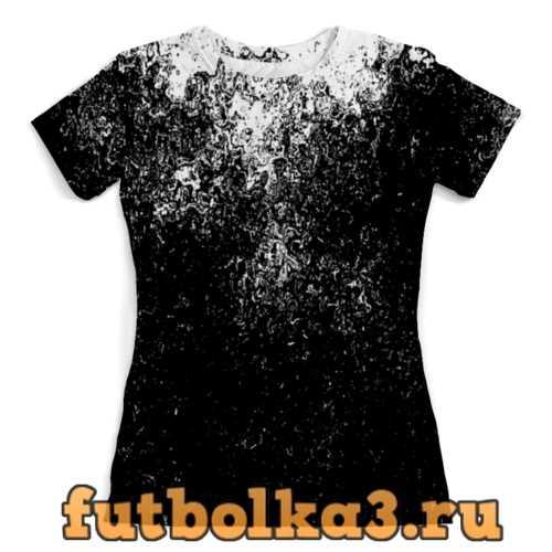 Футболка Черно-белые краски женская