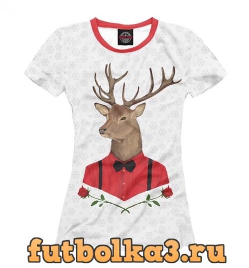 Футболка Christmas Deer женская