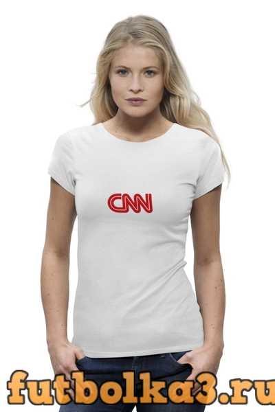 Футболка CNN (Cable News Network) женская
