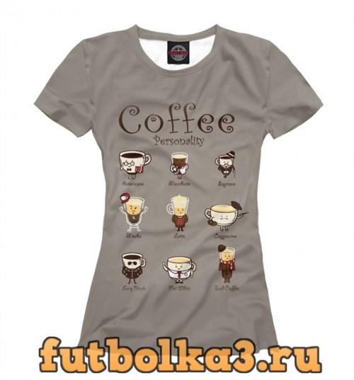 Футболка Coffee Personality женская