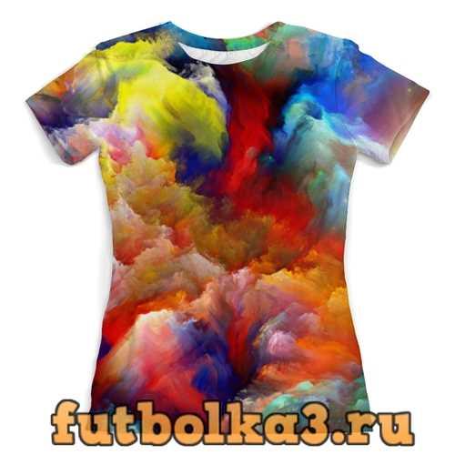 Футболка color explosion женская