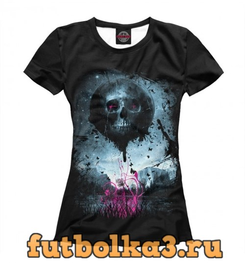 Футболка Color Skull женская
