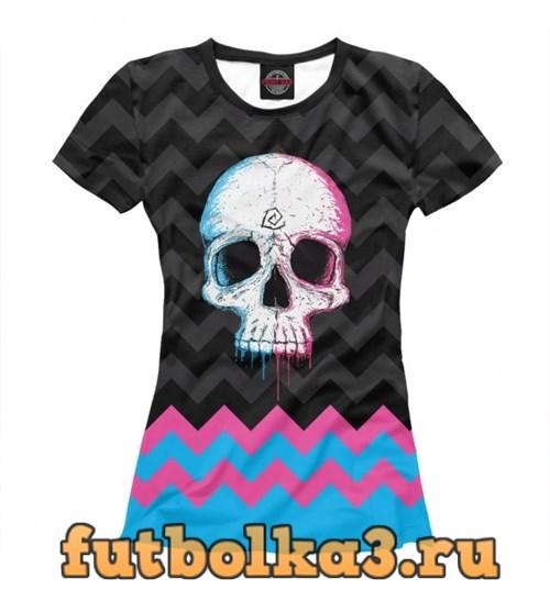 Футболка Colored Skull женская