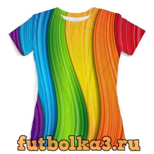 Футболка Colorful Rainbow женская
