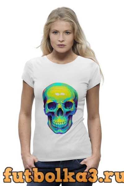 Футболка Colorfull skull женская
