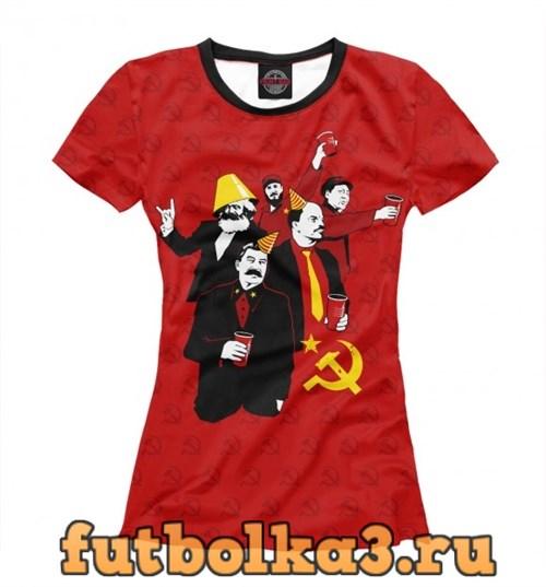 Футболка Communist Party женская