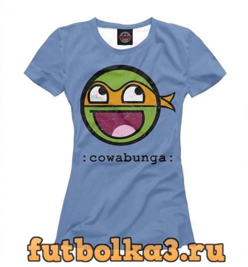 Футболка Cowabunga женская