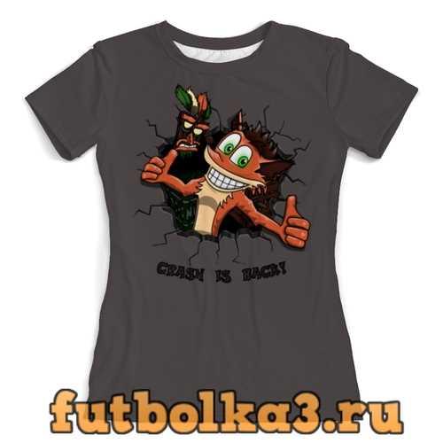 Футболка Crash is back! женская