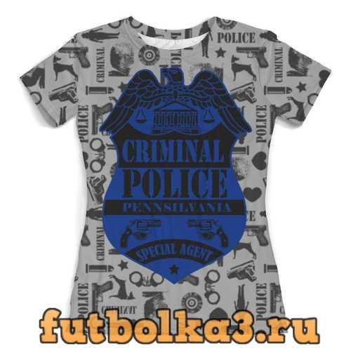 Футболка Criminal Police женская