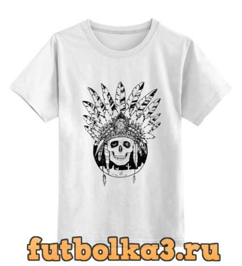 Футболка детская Череп индейца