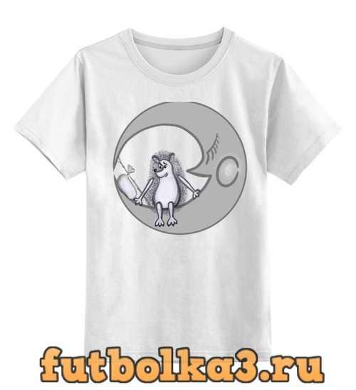 Футболка детская Ежик на луне
