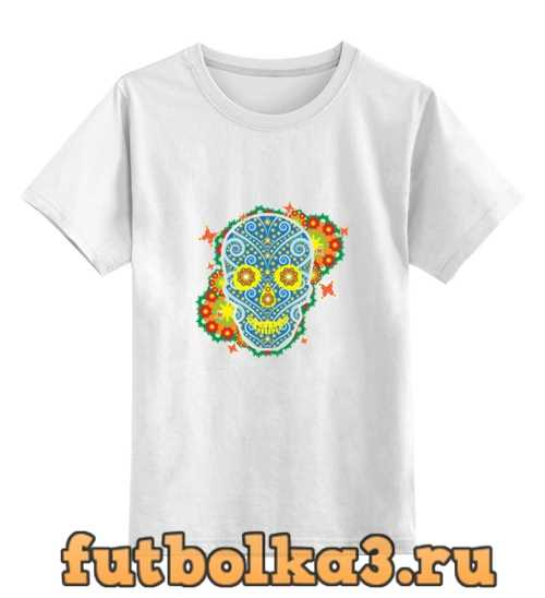 Футболка детская Floral Skull