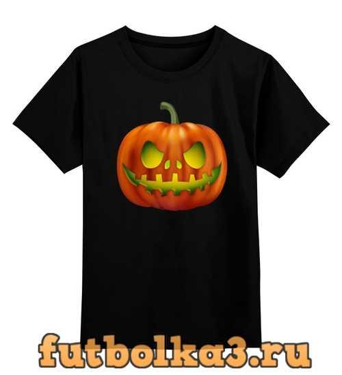 Футболка детская glowing pumpkin