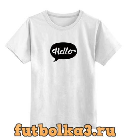 Футболка детская Облако мыслей - Hello