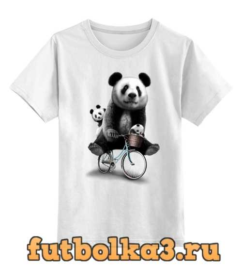 Футболка детская Панда на велосипеде
