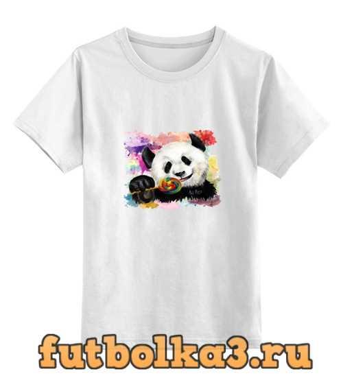 Футболка детская Панда с леденцом