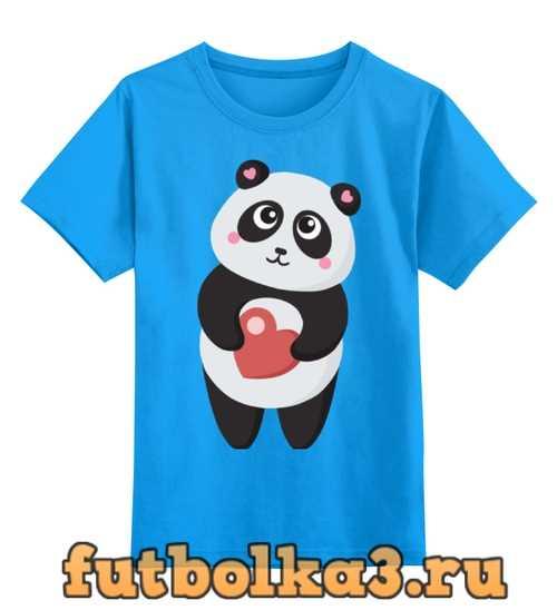 Футболка детская Панда с сердечком