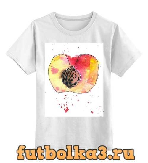 Футболка детская персик