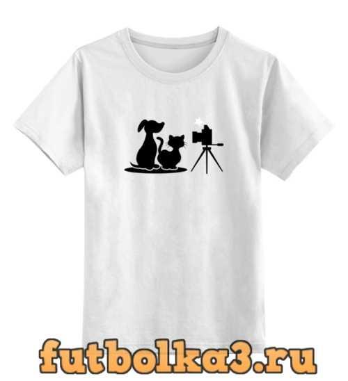 Футболка детская Пёс и кот