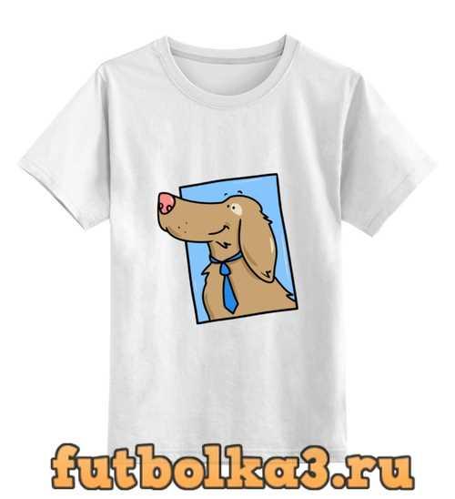 Футболка детская Пёс в галстуке