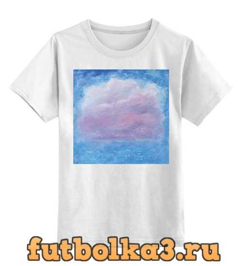 Футболка детская Розовое облако на небе