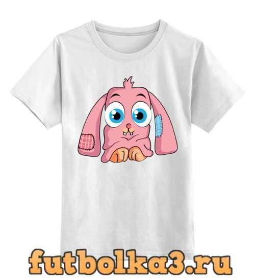 Футболка детская Розовый кролик