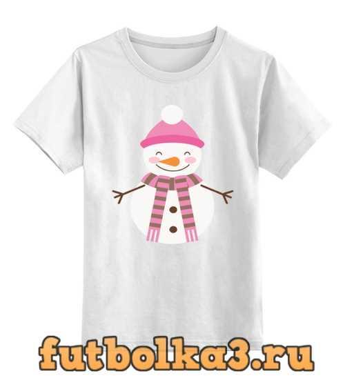 Футболка детская Снеговик