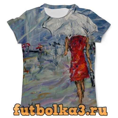 Футболка Девушка в красном мужская