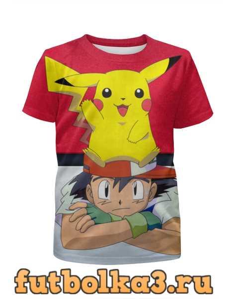 Футболка для девочек Ash & Pikachu
