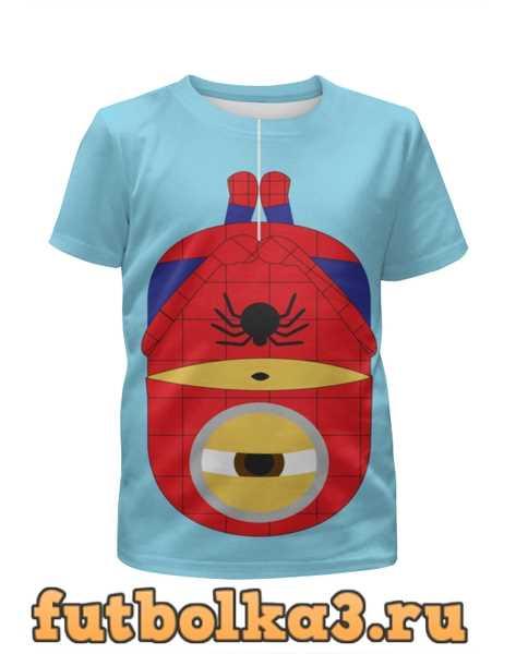 Футболка для девочек Человек паук-миньон