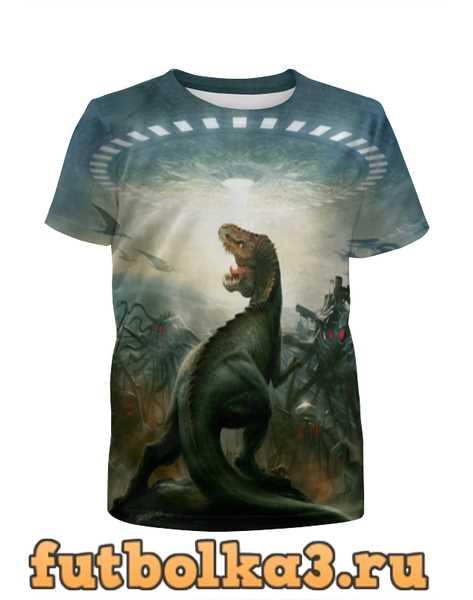 Футболка для девочек Динозавр