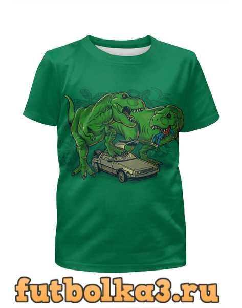 Футболка для девочек Динозавры