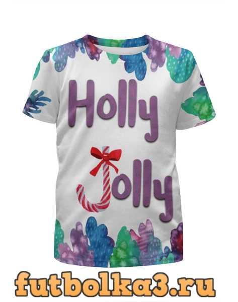 Футболка для девочек Holly Jolly