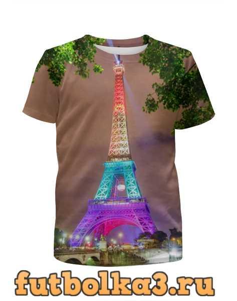 Футболка для девочек Париж эйфлева башня