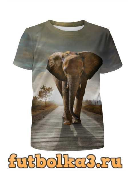 Футболка для девочек Саванный слон