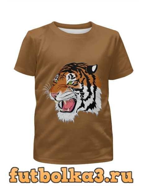 Футболка для девочек Тигр.