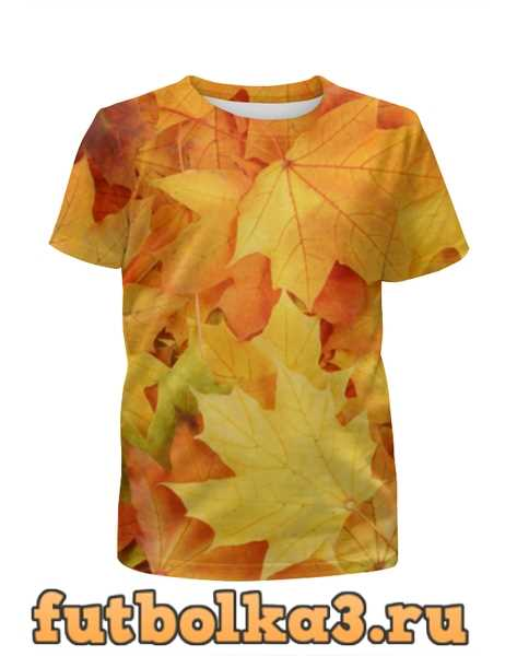 Футболка для мальчиков Листья-осень