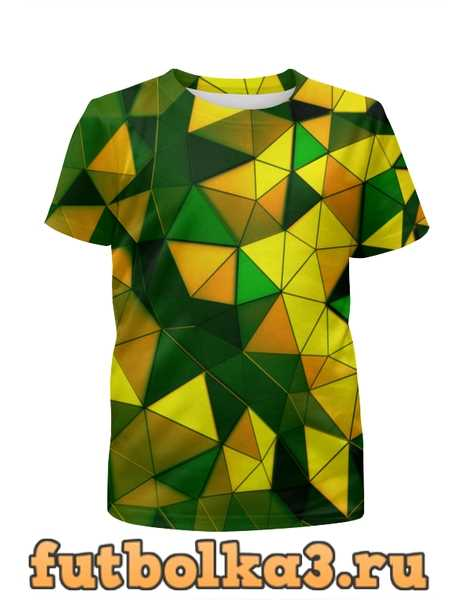 Футболка для мальчиков Желто-зеленые стекла