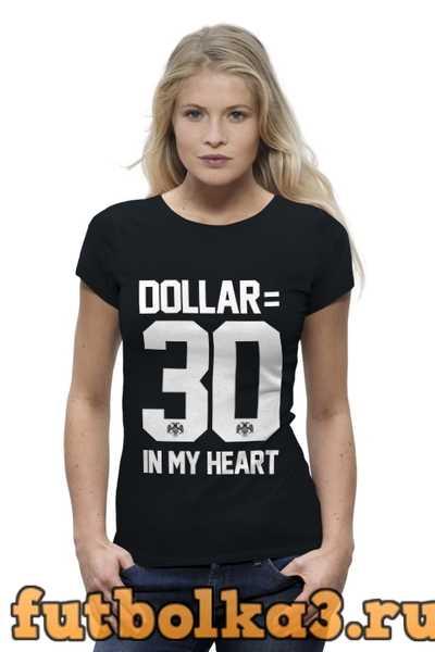 Футболка DOLLAR 30 by DESIGN MINISTRY женская