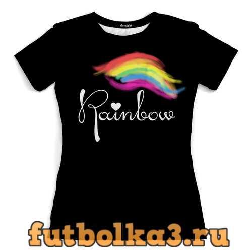 Футболка dorstyle rainbow girl женская