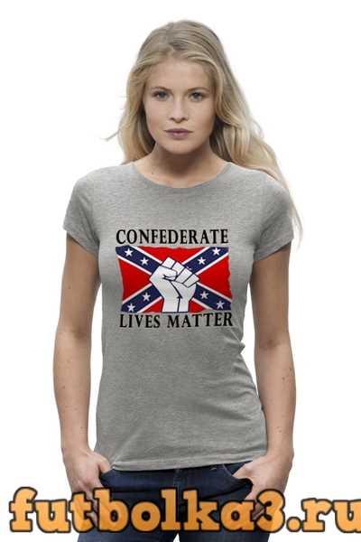 Футболка Флаг Конфедерации США женская