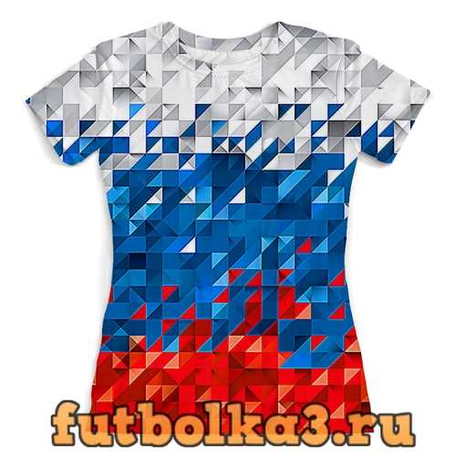 Футболка Flag RF PIXEL женская