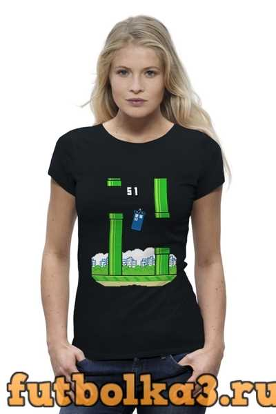 Футболка Flappy Bird (Tardis) женская