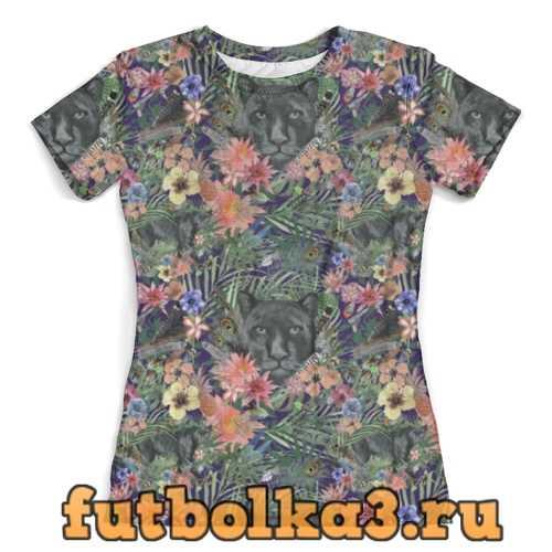 Футболка Flora & Panther Design (night) женская